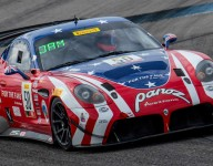 James profits from others' misfortune in GT4 Sprint Race 1