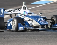 VeeKay, McElrea, Rasmussen fastest on Road to Indy test Day 2