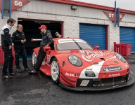 Tandy savors Porsche demo at Talladega