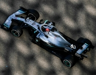 Russell leads final day of tire test