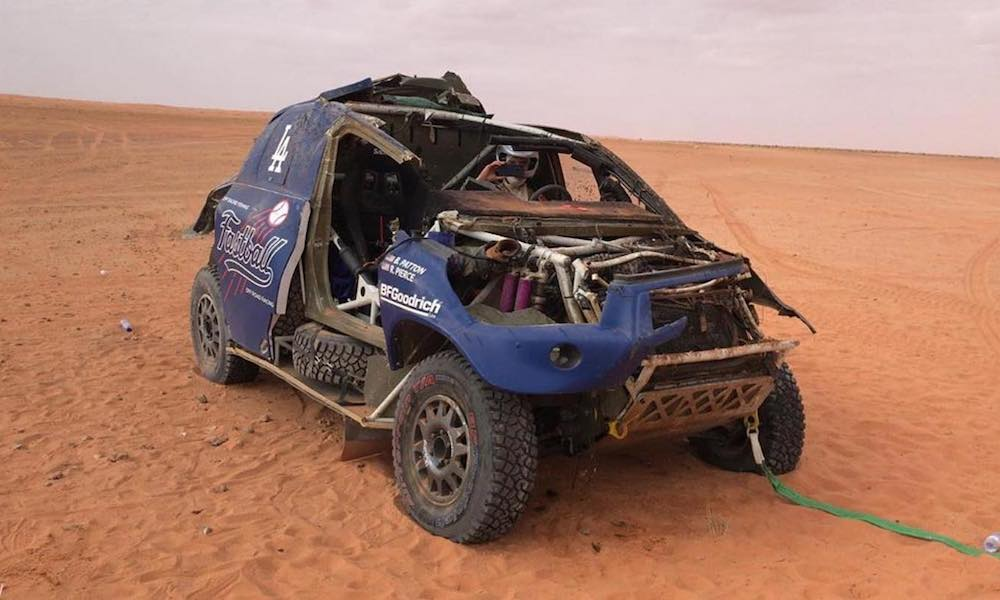 American Team Fastball Crashes Out Of Dakar Racer