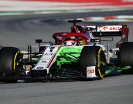 Raikkonen fastest in Barcelona; Mercedes sparks intrigue before hitting trouble