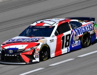 Rain washes out Vegas qualifying; Kyle Busch on pole