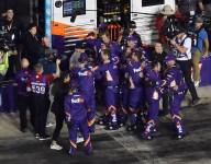 Gibbs apologizes for post-race celebration