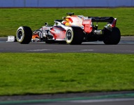 Red Bull RB16 hits the track at Silverstone