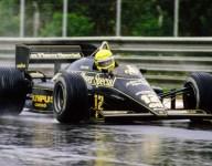 Celebrating Senna's first Formula 1 victory: April 21, 1985