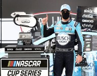 Harvick scores 50th Cup win at Darlington in NASCAR's return