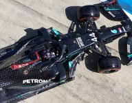 Hamilton demoted to fifth after Red Bull protest