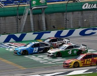 Custer 'had to get to the top' on final restart