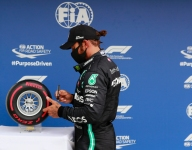Hamilton humbled by 90th F1 pole in dominant Mercedes display