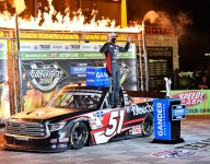 Fifth Trucks win at TMS for Kyle Busch as Eckes makes it tough