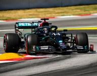 Hamilton fastest, Ocon hits wall in third Spanish GP practice