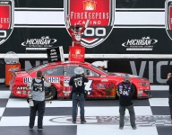 Clean sweep for Harvick in first race of Michigan doubleheader