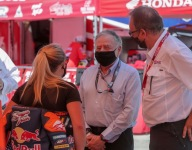 Todt an enthusiastic visitor at American Flat Track Indy Mile