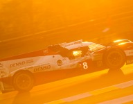 LM24 Hour 15: No.8 Toyota holding station at the front