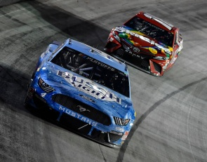 Harvick, Kyle Busch, 1-2 at Bristol, will share Las Vegas front row