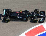 Bottas leads first practice at slippery Sochi