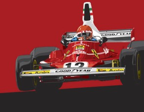 Original Ferrari posters by RACER artist Paul Laguette now available in the RACER Store