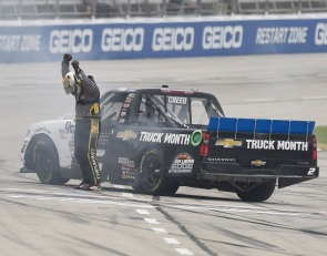 Creed puts second GMS Racing truck into championship race with Texas win