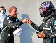 Bottas exults after risky lap pays off