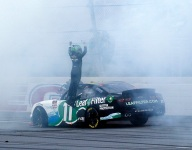Haley leads lap that matters for Xfinity win at Talladega