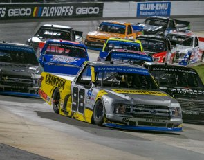 Enfinger advances with Truck Playoff win at Martinsville
