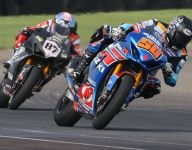 Fong wins a wild Superbike Race 1 at the Brickyard