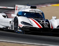 Mazda fastest, tempers flare in P2 at Laguna Seca