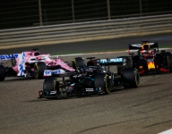 Hamilton wins Bahrain after shocking first-lap crash for Grosjean