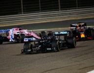 Hamilton wins Bahrain after shocking first-lap crash for Grosjean