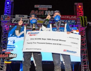 185 starters, 111 finishers in tough SCORE Baja 1000