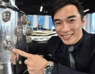 Sato unveils his second visage on Borg-Warner Trophy