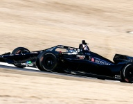 VIDEO: Grosjean gets first laps in an IndyCar at Barber