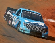Truex Jr. wins rain-delayed Truck race on Bristol dirt