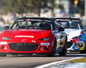 Wagner is first repeat 2021 MX-5 Cup winner in Sebring Race 2