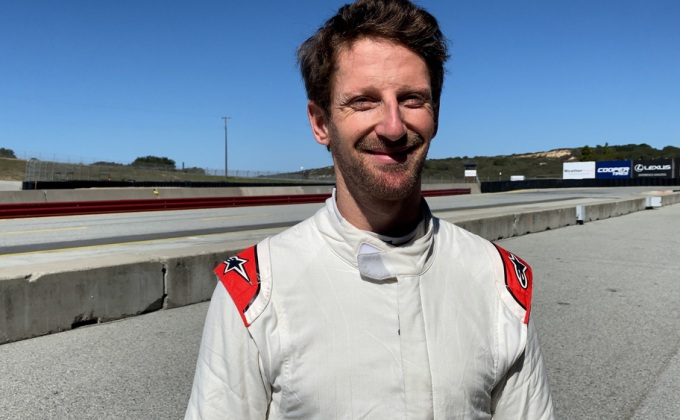 RACER video: Romain Grosjean IndyCar test in Monterey