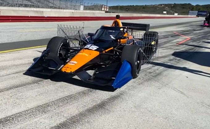 RACER video: Juan Pablo Montoya IndyCar testing in Monterey