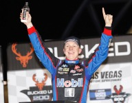 John Hunter Nemechek holds off Kyle Busch to win Truck race at Las Vegas