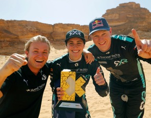 Rosberg's Kristoffersson/Taylor win first Extreme E X Prix
