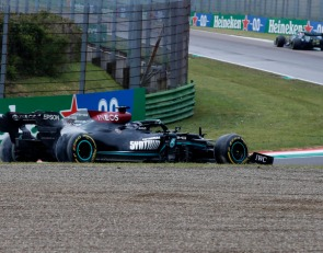 Hamilton rebounds from error with luck and a strong recovery drive