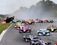 Newgarden sparks massive opening lap crash at Barber