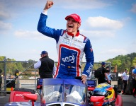 Palou holds off Power to grab first-ever IndyCar win at Barber