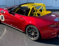 Cancer charity and Mazda MX-5 Cup constructor launch car wrap contest