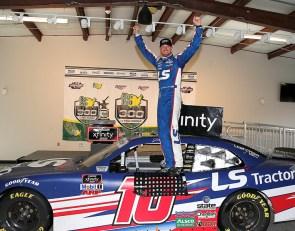 Jeb Burton gets first Xfinity win in rain-shortened race at Talladega