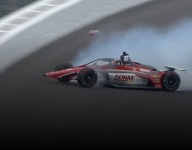 VeeKay crashes during Indy testing
