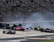 Massive crash hinders start of second Texas IndyCar race