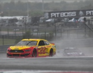 Logano finds NASCAR in the rain at COTA as fun as it is sketchy