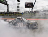 Gilliland overcomes penalty to win Truck Series race at COTA