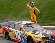 Kyle Busch takes victory to complete Kansas weekend sweep