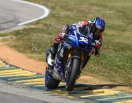 Gagne grabs pole to lead MotoAmerica Superbike on first day at VIR